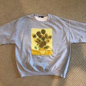 URBAN OUTFITTERS Sunflowers Pullover Sweatshirt